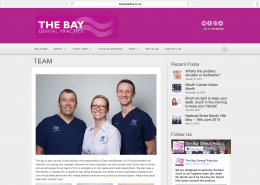 Web design Penzance for The Bay Dental by t2design