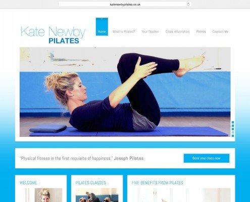 Website design for Penzance based Kate Newby Pilates | t2design