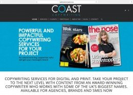 Website design for Coast Copywriting Penzance