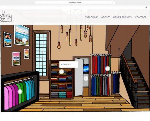 Fishboy Penzance Web Online Shop Design and Build | t2design