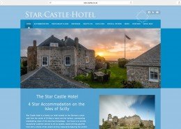 isle of scilly website design | Star Castle Hotel