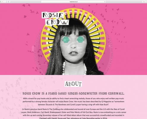 Web Design for Rosie Crow Music
